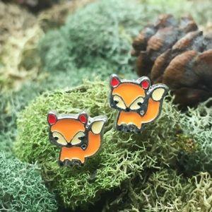 Last pair! Fox earrings
